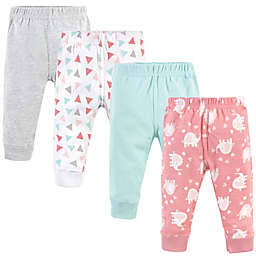 Luvable Friends® 4-Pack Elephant Pants Set in Pink