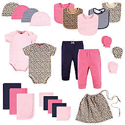 Hudson Baby® Size 0-6M 25-Piece Leopard Layette Baby Gift Set in Pink