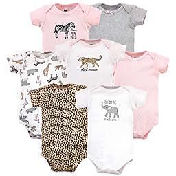 Hudson Baby® Size 9-12M 7-Pack Modern Safari Short Sleeve Bodysuits
