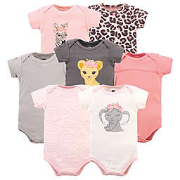 Hudson Baby® Size 12-18M 7-Pack Safari Short Sleeve Bodysuits