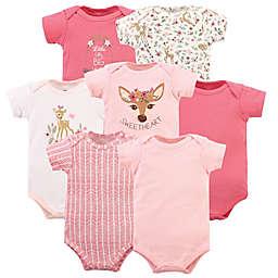 Hudson Baby® Size 3-6M 7-Pack Floral Deer Short Sleeve Bodysuits
