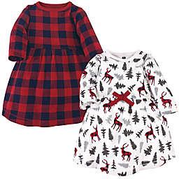 Hudson Baby® 2-Pack Forest Deer Dresses in Red