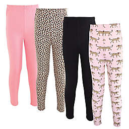 Hudson Baby® Size 10Y 4-Pack Cheetah Pants