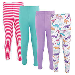 Hudson Baby® Size 12Y 4-Pack Girl Dino Cotton Pants