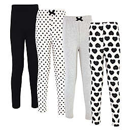 Touched by Nature Heart 4-Pack Organic Cotton Leggings
