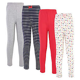 Touched by Nature 4-Pack Polka Dot Organic Cotton Leggings