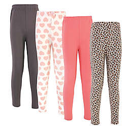 Touched by Nature® 4-Pack Leopard Organic Cotton Leggings