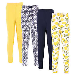 Touched by Nature® 4-Pack Lemon Organic Cotton Leggings