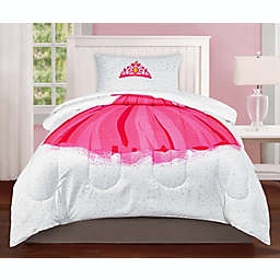 Sleeping Partners Princess 5-Piece Reversible Twin Comforter Set in Pink