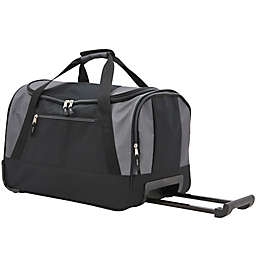 Traveler's Club® 20-Inch Rolling Carry On Duffel in Grey