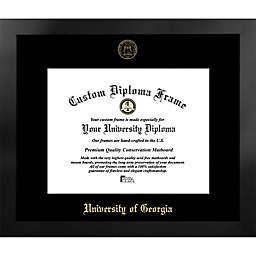 University of Georgia 20-Inch x 23-Inch Gold Foil Seal Diploma Frame in Black