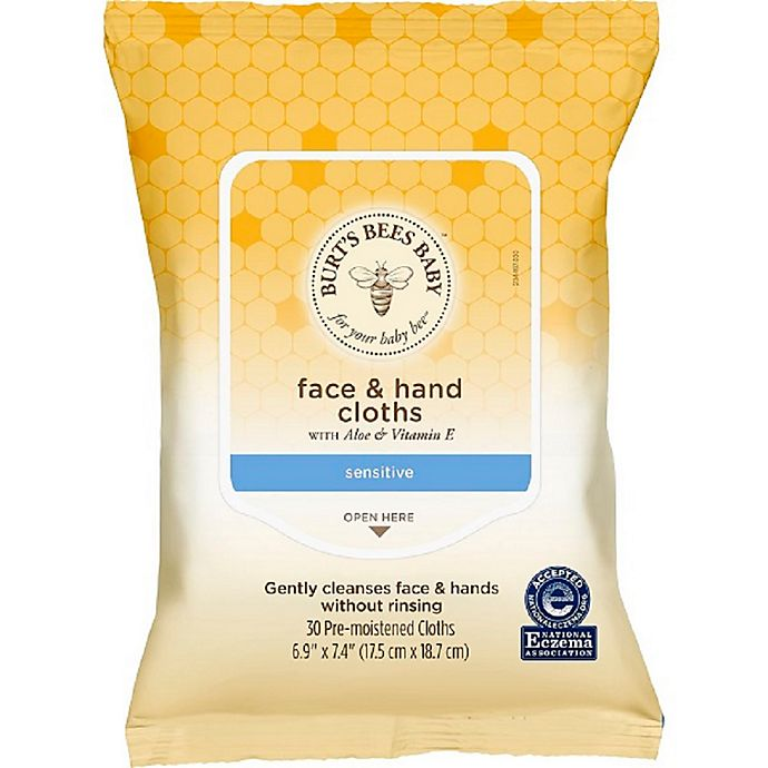Alternate image 1 for Burt's Bees® Baby Bee® 30-Count Face & Hand Cloths