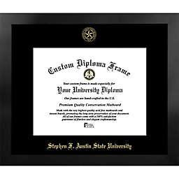Stephen F. Austin State University 19-Inch x 22-Inch Gold Foil Seal Diploma Frame in Black