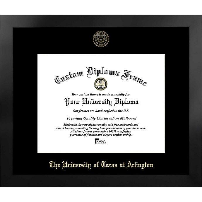 Alternate image 1 for University of Texas-Arlington 19-Inch x 22-Inch Gold Foil Seal Diploma Frame in Black