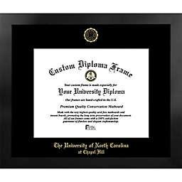 University of North Carolina 19.25-Inch x 21.75-Inch Gold Foil Seal Diploma Frame in Black