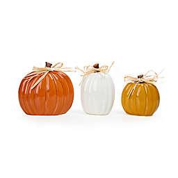 3-Piece Ceramic Pumpkin Decoration Set