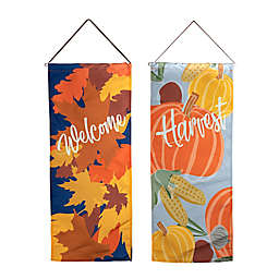 Assorted Harvest Canvas 12.4-Inch x 29-Inch Wall Hanger