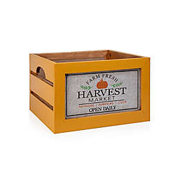Bee & Willow™ Large Decorative Harvest Crate in Yellow