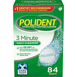 Polident 84-Count 3 Minute Denture Cleanser Tablets
