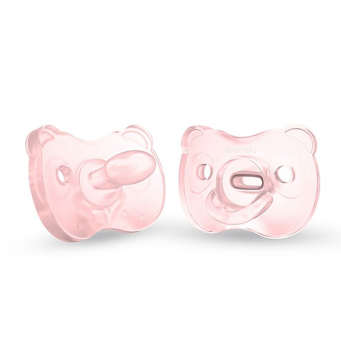 Alternate image 1 for Medela® Baby 6-18M 2-Pack SensoPearls® Soft Silicone Pacifiers in Pink