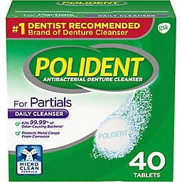 Polident® For Partials 40-Count Antibacterial Denture Cleanser Tablets