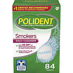 Polident® 84-Count Smokers Antibacterial Denture Cleanser Tablets