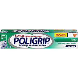 Super Poligrip 2.4 oz. Free Denture Adhesive Cream
