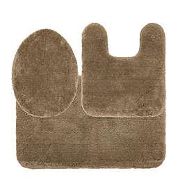 Nestwell™ Soft Plush 3-Piece Bath Rug Set in Brown