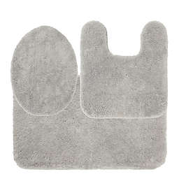 Nestwell™ Soft Plush 3-Piece Bath Rug Set in Chrome