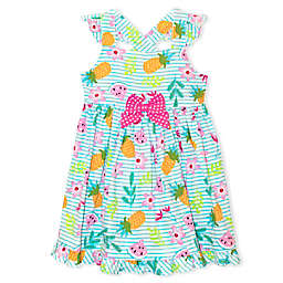 Nannette Baby® Fruit Poplin Dress in Aqua