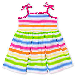 Nannette Baby® Multi-Stripe Multicolor Poplin Dress