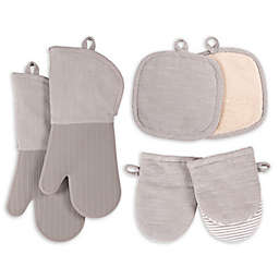 Our Table™ Select 6-Piece Oven Mitts, Pot Holders, and Mini Mitts Set in Grey