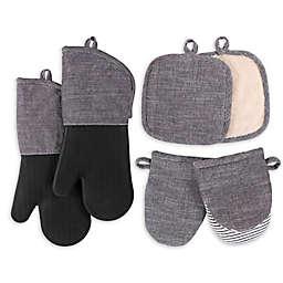 Our Table™ Select 6-Piece Oven Mitts, Pot Holders, and Mini Mitts Set in Black