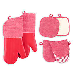 Our Table™ Select 6-Piece Oven Mitts, Pot Holders, and Mini Mitts Set in Red