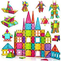 Contixo ST1 150-Piece Magnetic Building Tiles 3D Blocks Kit