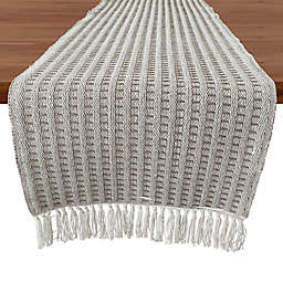 Our Table™ Fringe Stitch Striped 72-Inch Table Runner in Natural