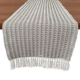 Our Table™ Fringe Stitch Striped 120-Inch Table Runner in Natural