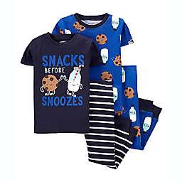 carter's® Size 18M Cotton 4-Piece Pajama Set in Blue