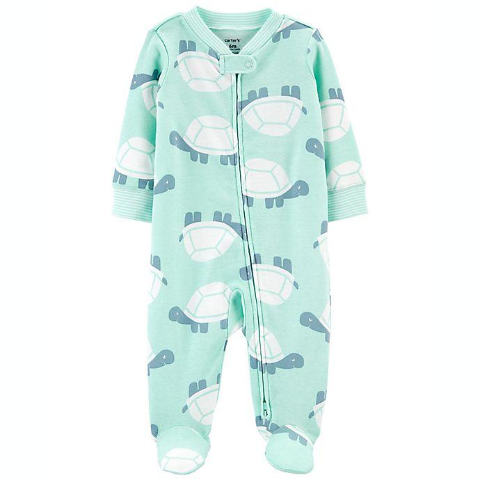 Alternate image 1 for carter's® 2-Way Turtle Zip Cotton Sleep 'N Play