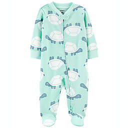 carter's® Size 9M 2-Way Turtle Zip Cotton Sleep 'N Play in Green