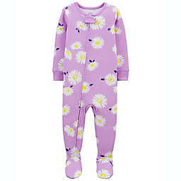 carter's® Pink Hearts 2-Way Sleep & Play Footed Pajama