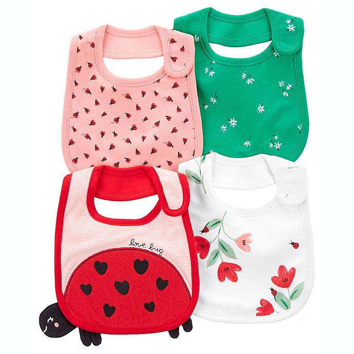 Alternate image 1 for carter's® 4-Pack Ladybug Teething Bibs