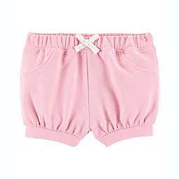 carter's® Newborn Pull-On French Terry Shorts in Pink