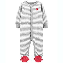 carter's® Newborn Crab Snap-Up Terry Sleep 'N Play in Grey