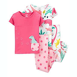 carter's® Size 12M 4-Piece Cotton Pajama Set in Pink