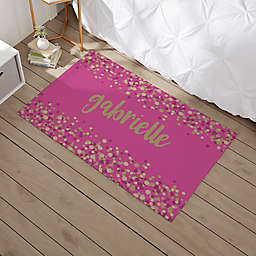 Sparkling Name Personalized Area Rug
