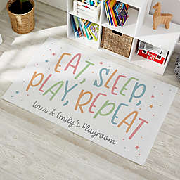 Playroom Quotes Personalized Area Rug