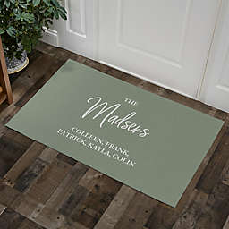 Classic Elegance Family Personalized Area Rug