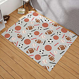 All About Sports Personalized Area Rug