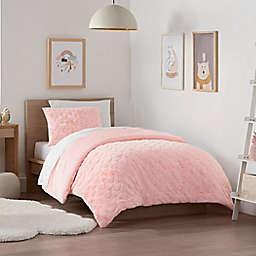 UGG® Polar Heart 3-Piece King Comforter Set in Pink/White